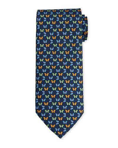Men's Butterfly Print Haiti Tie