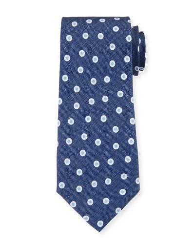 Camargue Small-Circle Tie  Blue