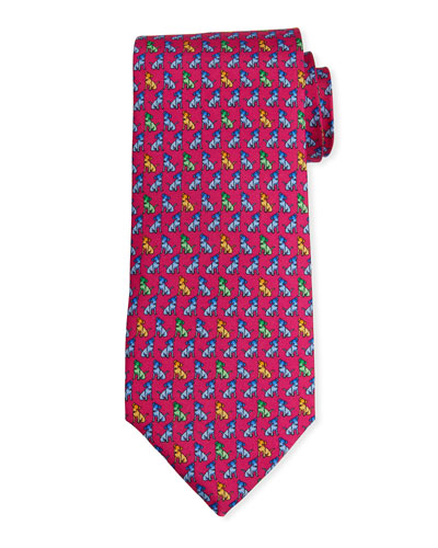 Men's Dog Print Haiti Tie