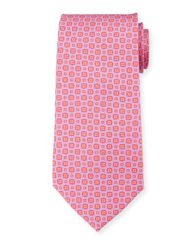 Flowers Portofino Tie  Pink