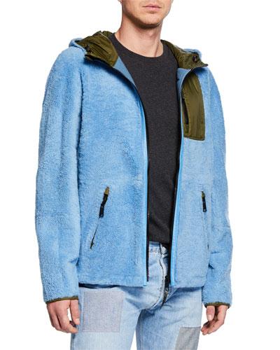 Men's Colorblock Fleece Zip-Front Jacket