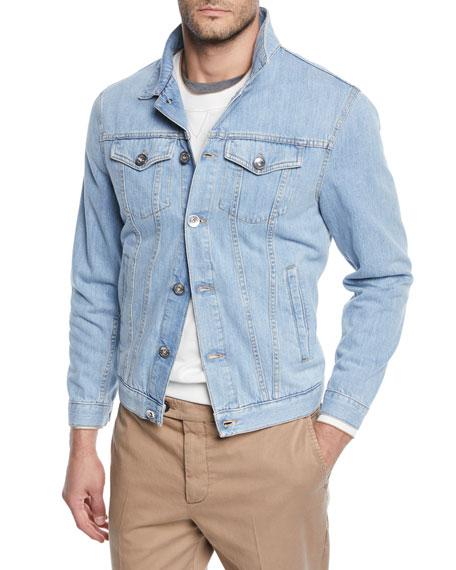 Men's Light Wash Denim Jacket