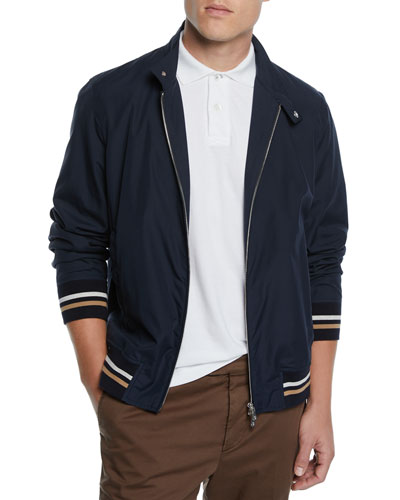 Men's Moto Collar Bomber Jacket