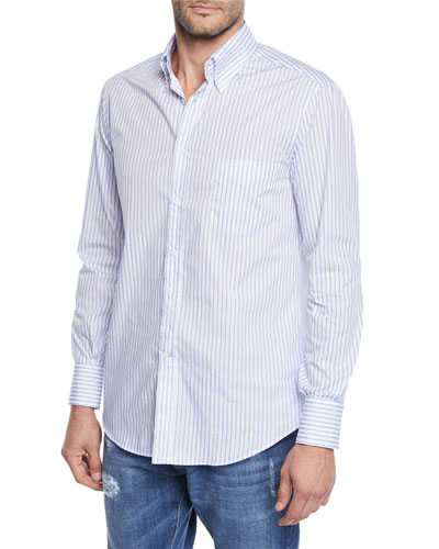 Men's Washed Stripe Sport Shirt