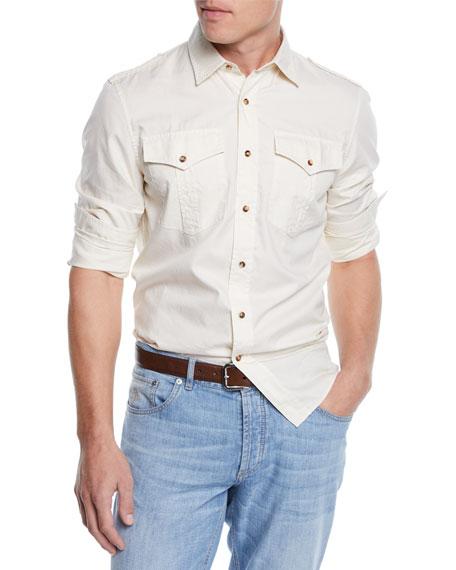 Men's Leisure-Fit Safari Woven Shirt