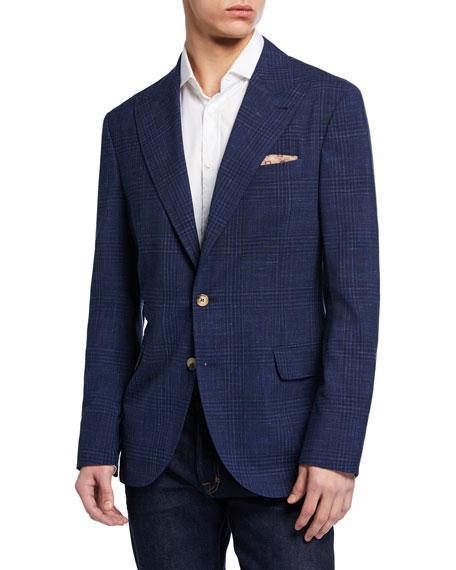 Brunello Cucinelli Men's Tonal Plaid Two-Piece Jacket