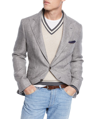 Men's Houndstooth Sport Jacket