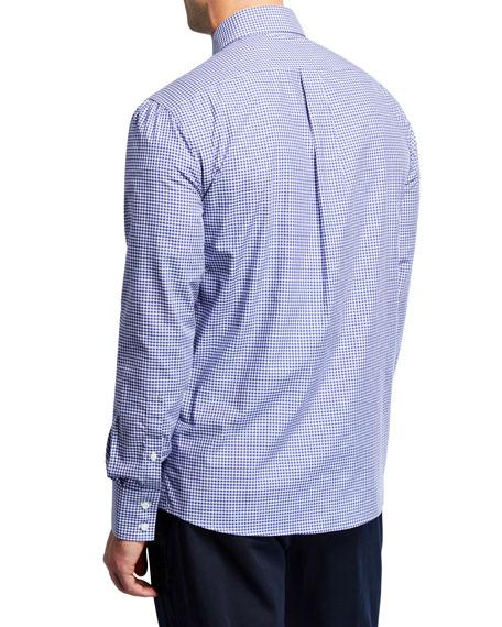 Men's Microcheck Woven Sport Shirt