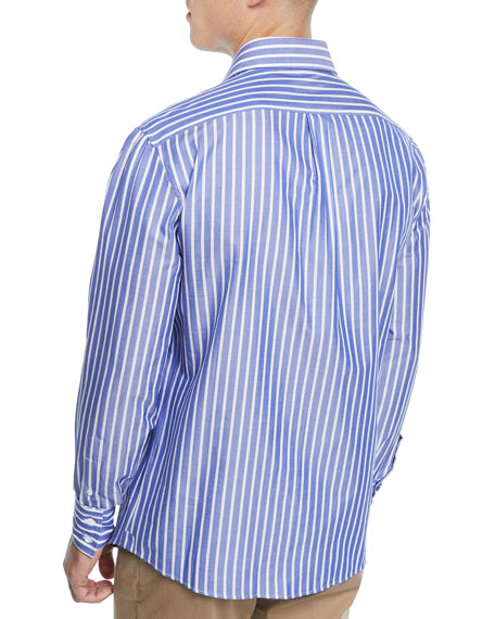 Men's Wide-Striped Dress Shirt