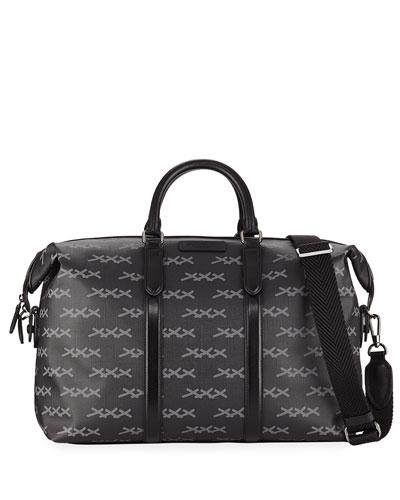 Men's XXX Printed Canvas Weekender Bag