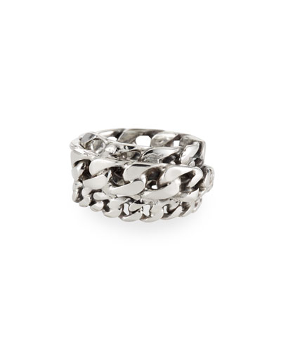 Men's Spiral Curb Chain Ring