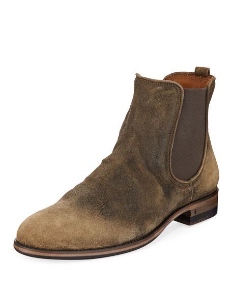 cede930788f5a5 John Varvatos Men s Fleetwood Suede Chelsea Boots