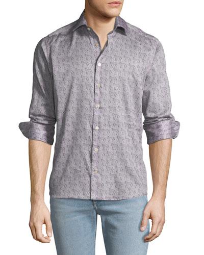 Men's Zebra Pattern Sport Shirt