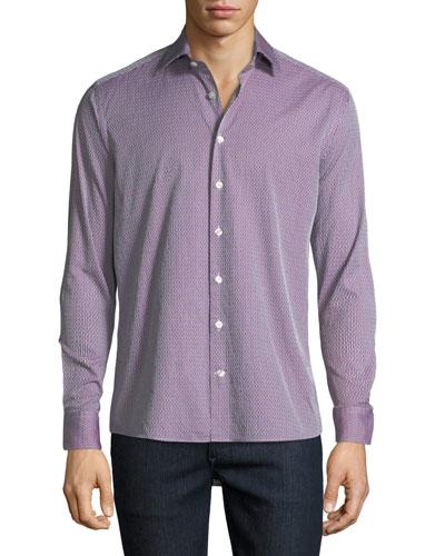 Men's Textured Cotton Sport Shirt