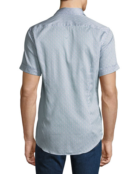 Men's Graphic Short-Sleeve Sport Shirt