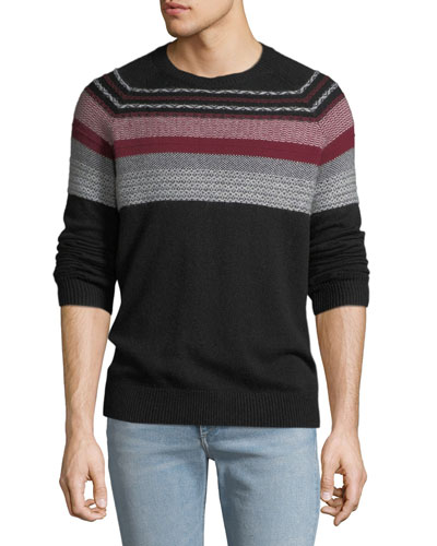 Men's Striped Merino Knit Sweater