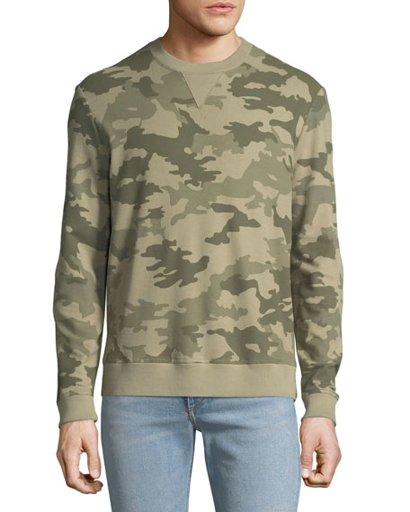 Men's Cotton Pique Camouflage Sweater