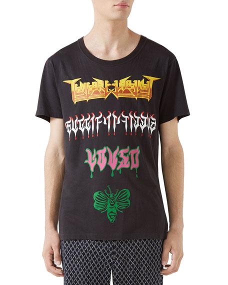 fb6eeacc Gucci Men's Loved Medley Graphic T-Shirt