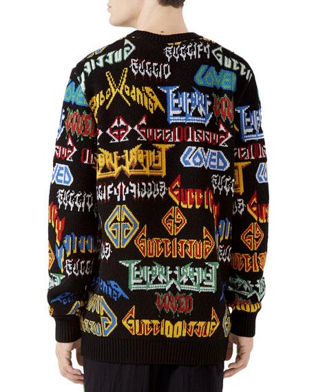 ffa8de64fb5ee Gucci Men's Medley Logo Intarsia-Knit Sweater