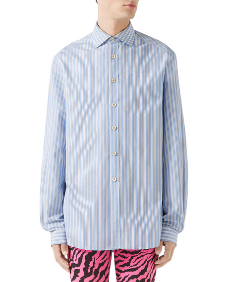 Men's Striped Classic Poplin Shirt