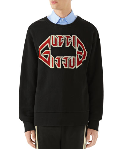 Men's Logo-Front Graphic Sweatshirt
