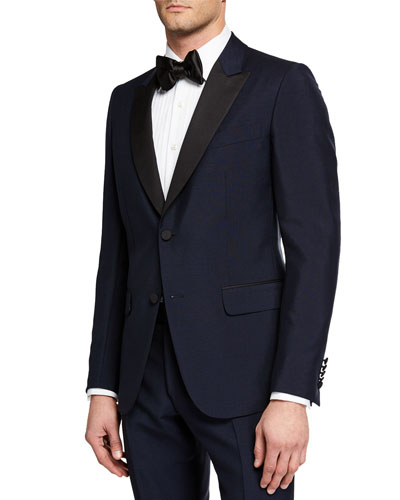 Men's Wool Two-Piece Tuxedo Suit