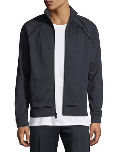 Men's Solid Jersey Track Jacket