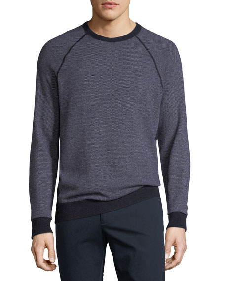 Vince Men's Birdseye Crewneck Sweater