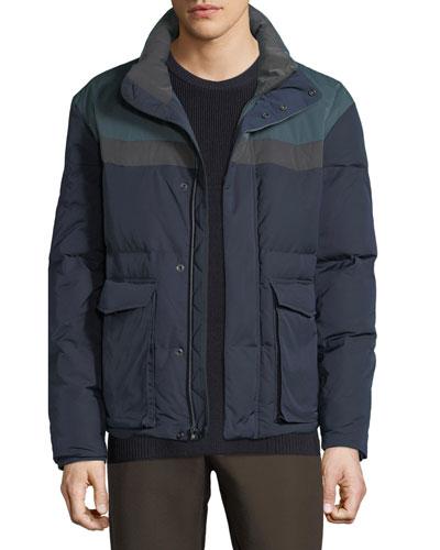 Men's Colorblock Puffer Coat