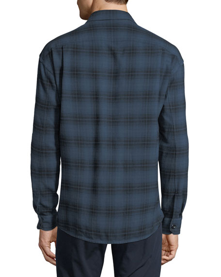 Men's Two-Tone Plaid Overshirt