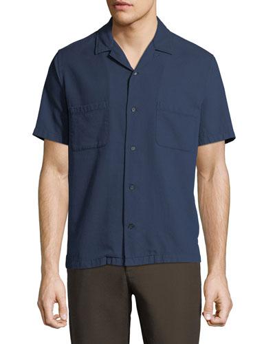 Men's Cabana Textured-Weave Short-Sleeve Sport Shirt