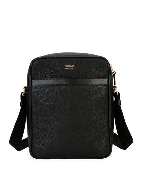 Tom Ford Leathers MEN'S LEATHER CROSSBODY BAG