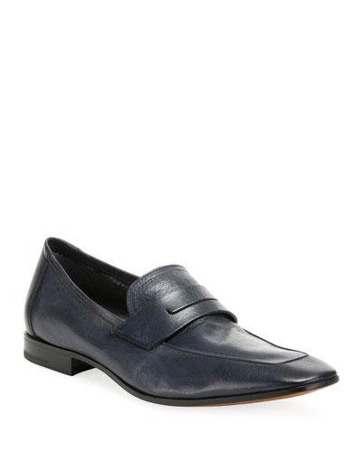 Men's Incrociato Leather Loafers