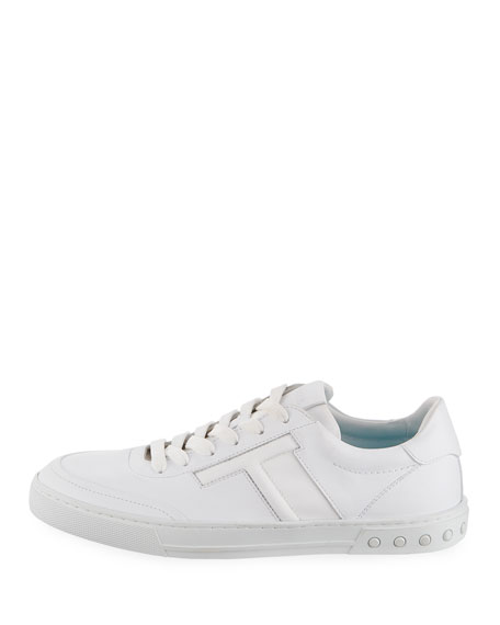 Men's Casetta Leather Low-Top Sneakers