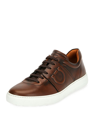 Men's Cult 6 Burnished Leather Low-Top Sneaker