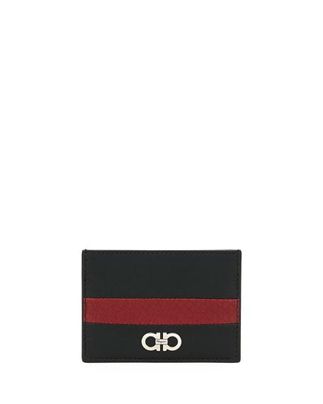 Salvatore Ferragamo Men's Block Color Ayers Stripe Card