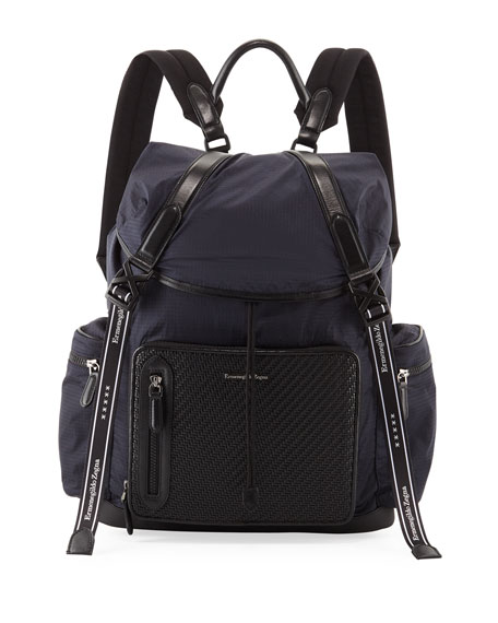 Ermenegildo Zegna Men's Special Denim Backpack