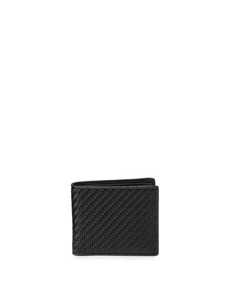 Ermenegildo Zegna Men's Pelle Tessuta Woven Leather Bi-Fold