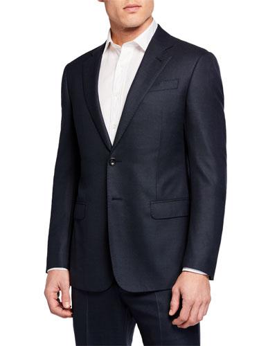 Men's Micro-Birdseye Super 180s Wool Two-Piece Suit