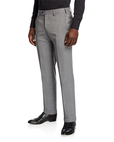 Men's Classic Wool Trouser Pants