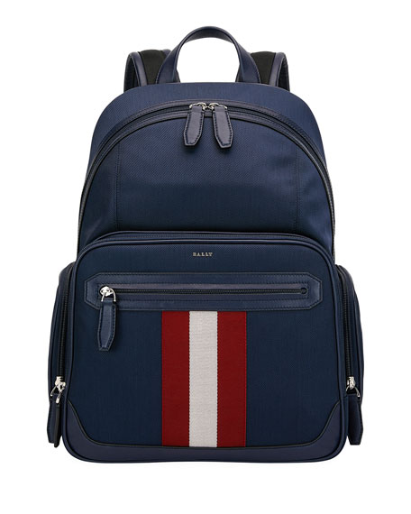 Bally Canvases MEN'S CHAPMAY WOVEN STRIPED-FRONT BACKPACK