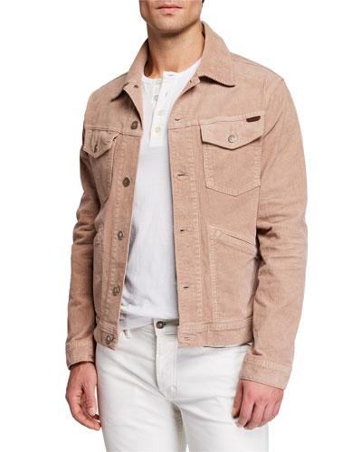 Men's Corduroy Denim Jacket