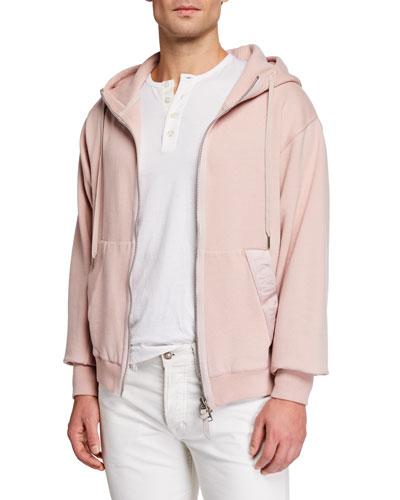 Men's Garment Dyed Hoodie Sweatshirt  Pink