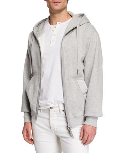 Men's Garment Dyed Hoodie Sweatshirt  Gray