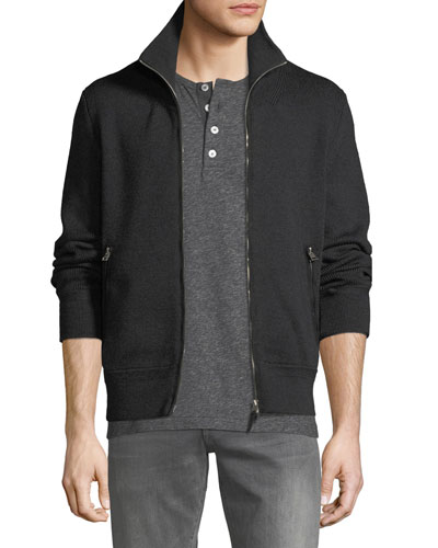 Men's Wool Zip-Front Sweater