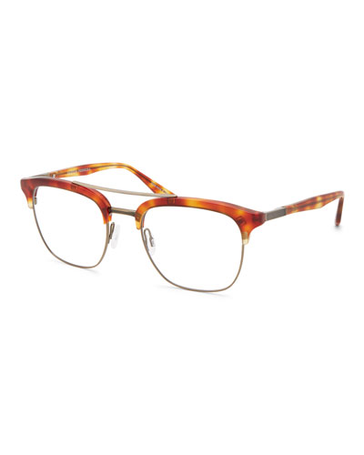 Men's Lenox Half-Rim Matte Titanium Optical Frames
