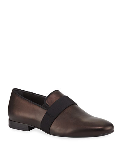 Men's Satin Leather Slipper