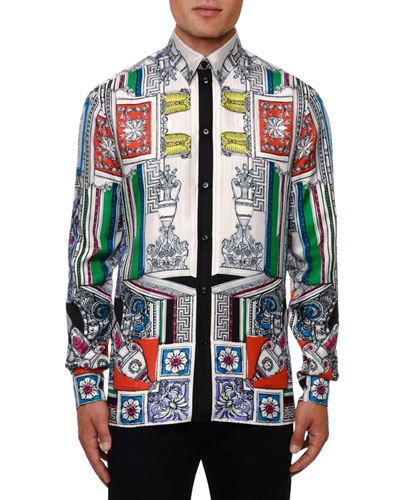 Men's Classical Silk Sport Shirt