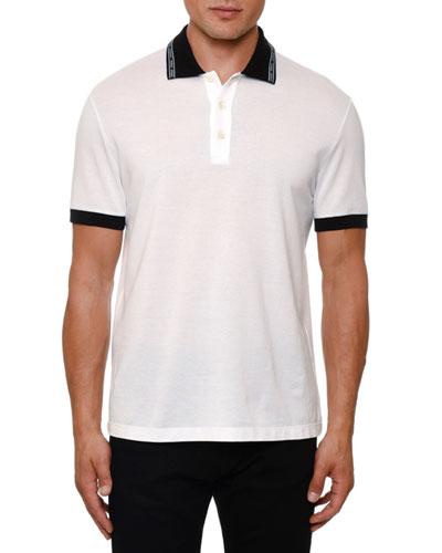 Men's Logo-Taping Polo Shirt