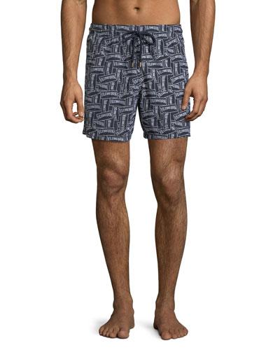 Men's Graphic Logo Swim Trunks